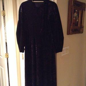 Maxi gown crushed velvet custom made NEW